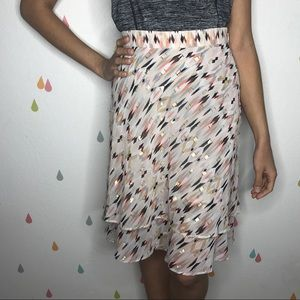 WHBM geometric tiered sparkly skirt